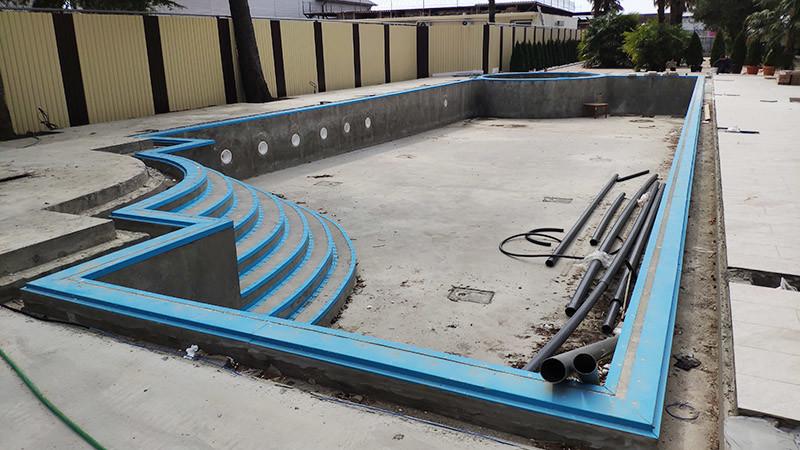 Установка закладных в бетонный переливной бассейн